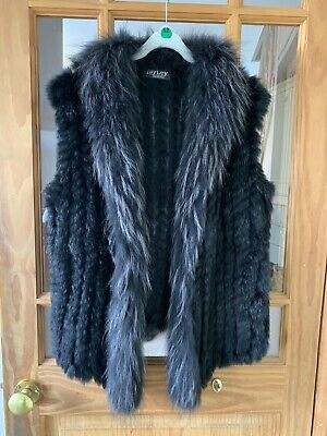 Jayley Real Fox and Coney Fur Gilet Size S Hardly Worn