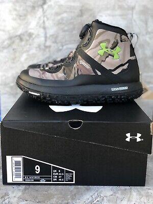 Under Armour Fat Tire GTX Hiking Boots Ridge Reaper/BarrenCamo Sz 9 .1262064-900