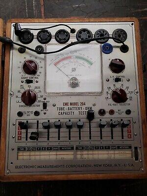 Vintage Emc Model 204 Tube Tester