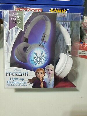 Disney Frozen 2 Light Up Headphones with Built in Microphone BRAND NEW
