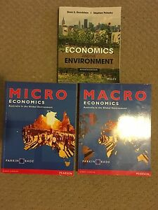 Economics and the Environment / Macro and Micro Economic textbook Toowong Brisbane North West Preview