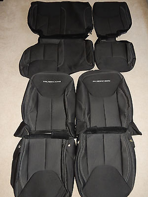 2013-2017 Jeep Wrangler 4Door Unlimited OEM Factory cloth seat covers