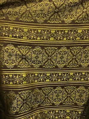 BROWN GOLD DAMASK CHENILLE UPHOLSTERY FABRIC (54 in.) Sold BTY Brown Chenille Upholstery Fabric