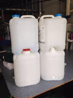 20ltr Plastic storage drums stackable Belmont Belmont Area Preview