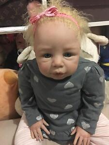Sold: Reborn Baby Girl Doll lifelike Vinyl Melbourne CBD Melbourne City Preview