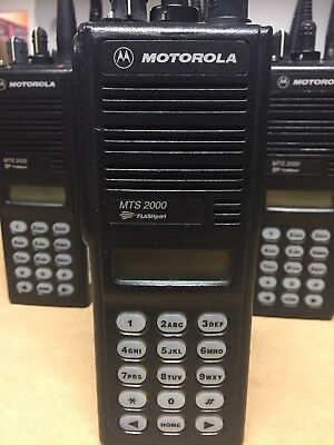 Motorola Mts 2000 Flashport Uhf Two Way Radio Wfull Key Pad