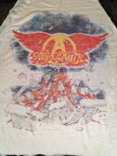 AEROSMITH ROCK IN A HARD PLACE 1982 TOUR T-SHIRT, SLEEVELESS, THIN, REAL VINTAGE