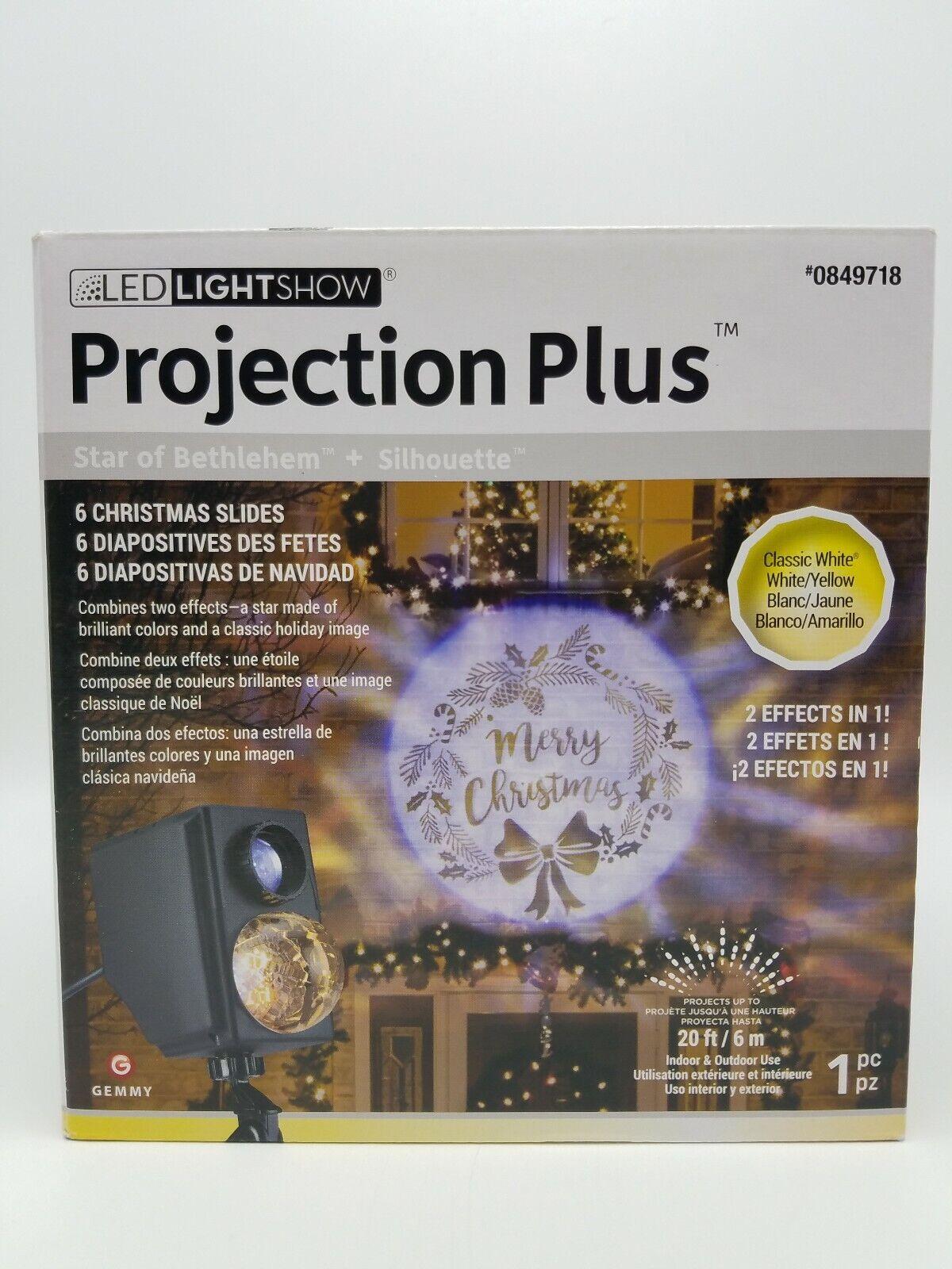 Gemmy Lightshow Projection Plus Slideshow Kaleidoscope Silho