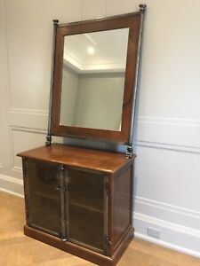 Wooden Display Cabinet and Mirror Set!