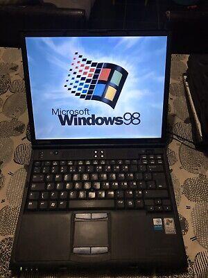 Compaq Evo N620c Windows 98 Pentium M ATI Radeon Retro Gaming Laptop Vintage