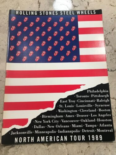 ROLLING STONES TOUR BOOK - Steel Wheels North American Tour 1989