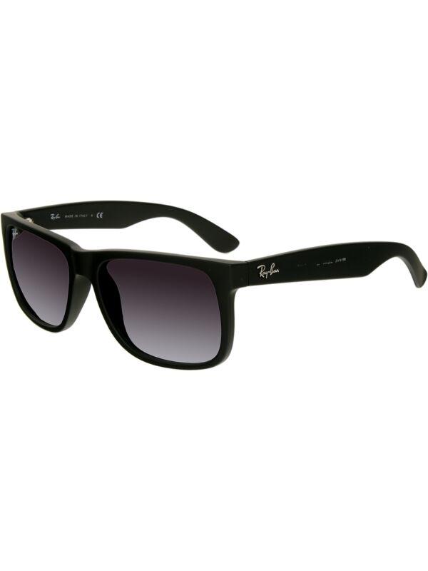 82111bda99 Ray-Ban Men s Gradient Justin RB4165-601 8G-54 Black Square Sunglasses