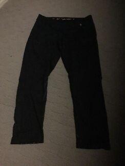 One active (active fit) MICHELLE BRIDGES black pants (size 12)