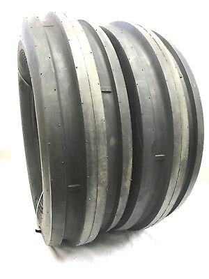 Two New 9.5l-15 8ply Rated9.5l153 Rib Tractor Farm Tire Heavy Duty Tubeless