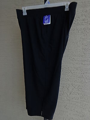 NWT WOMENS JUST MY SIZE PULL ON FRENCH TERRY JERSEY KNIT CAPRIS 4X BLACK