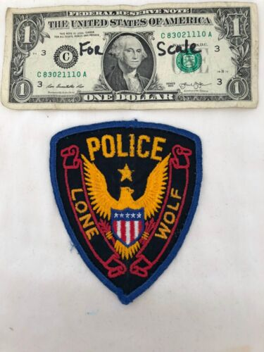 Old Very rare Lone Wolf Oklahoma Police Dept. Patch Pre-sewn but in great shape