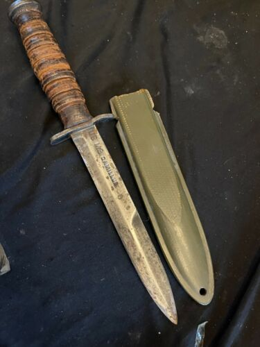U.S. M3 Camillus Trench Knife Marked Blade 12 inch