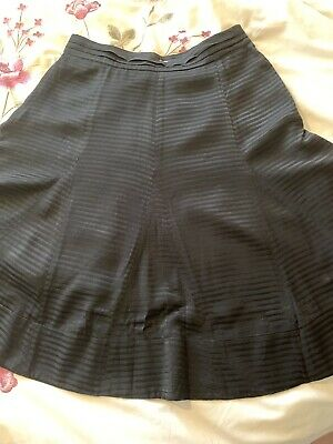 Jonathan Saunders Black Fit & Flare Skirt Party Fully Lined Uk 12 BNWT
