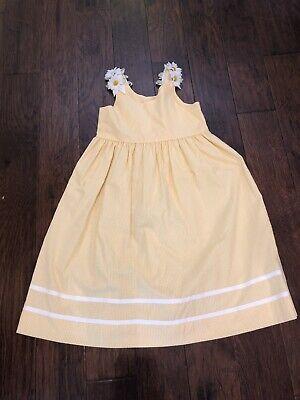 Little Girls Lavender Blue Yellow Check  Daisy Dress 6X ()