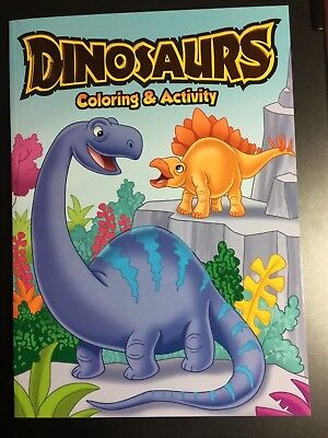 DINOSAURS COLORING & ACTIVITY BOOK NEW BRONTOSAURUS LONG NECK COVER CHILDREN - Kids Coloring Books