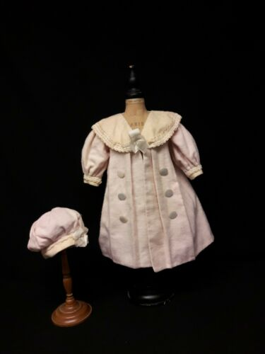 Antique Coat and Hat for German Bisque Doll