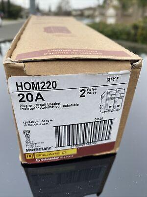 Square D Homeline 20 Amp 2-pole Circuit Breaker Hom220cp