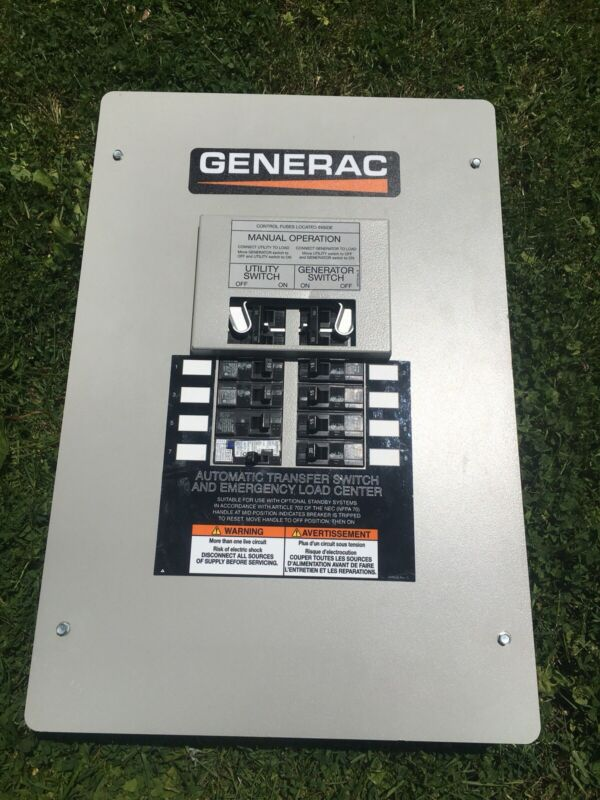 GENERAC 50 AMP MANUAL TRANSFER SWITCH 120/240 VAC 1 PHASE 3 WIRE