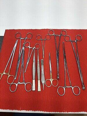 12 Assorted Veterinary Surgical Instruments V. Mueller Pilling Sklar Codman B1