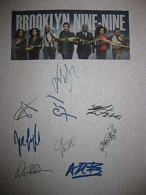 Brooklyn nine-nine 99 signed TV script X9 Andy Samberg Terry Crews Beatriz repnt