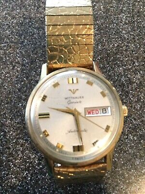 Vintage Longines Wittnauer Automatic Day Date Running Mens Wrist Watch