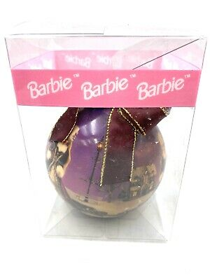 Rare 1996 Matrix Barbie Winter Wonderland Holiday Ornament Ball Purple Christmas