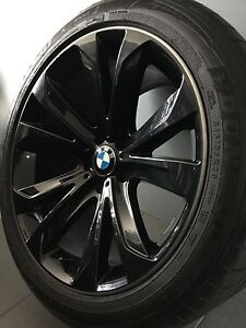 """BMW X5 MY15 20"""" BLACK GENUINE ALLOY WHEELS AND TYRES Carramar Fairfield Area Preview"""