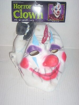 Horror Circus Clown Jester Scary Halloween Mask Adult Costume Accessory Latex - Jester Mask
