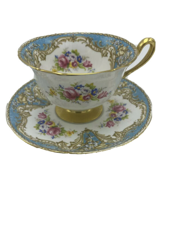Antique Shelley Porcelain Tea Cup Saucer Shelley Regal  Fine Bone China England