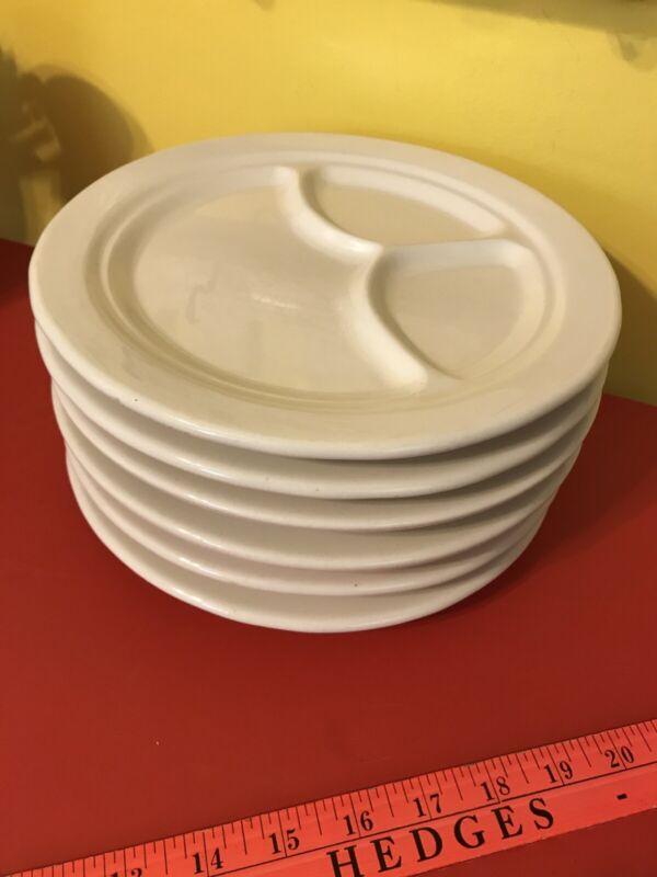 "1 Vintage Buffalo China 9½"" Divided Plate Restaurant Ware"