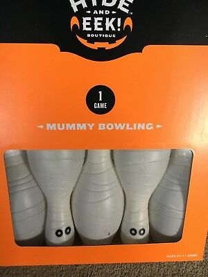 Kids Bowling Party Game Kit Halloween Mummy NIB