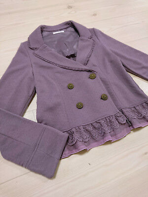 axes femme Soft Jacket top Japan-M Lavender Lace Ruffle Hime&Lolita 109Fashion