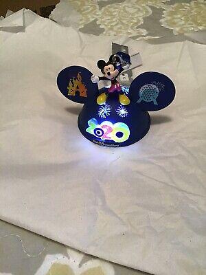 Disney Parks 2020 Disney World Mickey Mouse Light-Up Ear Hat Christmas Ornament