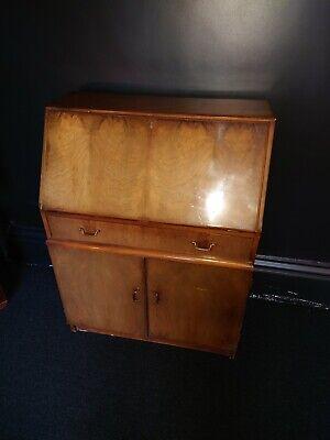 Vintage Bureau Writing Desk Compact/ Mid-Century