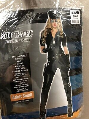Stop Traffic Cop Costume (Stop Traffic Sexy Cop Halloween Costume for Women, S Size, with)