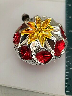 Vintage NOS Heart 3D Shaped Christmas Ornaments - West Germany (r54 ()