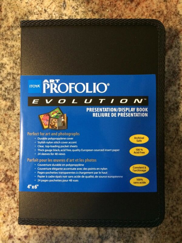 Itoya Evolution Portfolio book bound album, photos up to 4x6, black