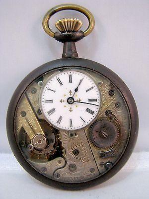 Taschenuhr Brevet Valor Mathez Hofstetter & Cie Schweiz Pocket Watch um 1895