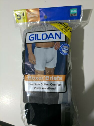 Mens 5 Pack Gildan Boxer Briefs size XL  NEW