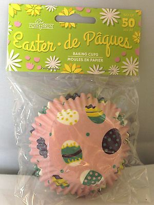 EASTER EGG PASTELS PARTY BAKERY CUPCAKE  BAKING CUPS 50CT.  - Easter Cupcake
