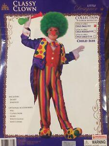"Kids ""Classy Clown"" costume size small (4-6)"