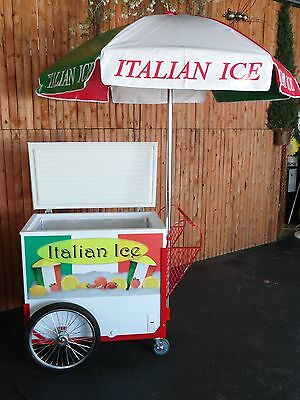 New Italian Ice Cart Wumbrella Graphics Water Ice Vendor Concession