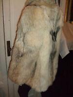 Pelliccia Coat Mantel Fur Pelz White Coyote Kojote Volpe Fuchs Fox Vintage - fuchs - ebay.it