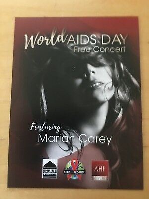 Mariah Carey world aids day concert los angeles nov 30 2017 handbills