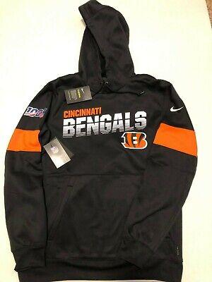 Mens Cincinnati Bengals Nike 100th Sideline Hoodie Therma Sweatshirt Size: Med Black Cincinnati Bengals Sweatshirt